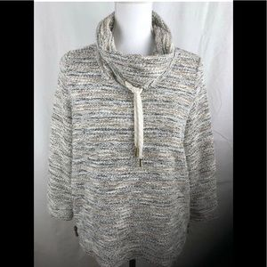 Ruby Rd Metallic Cowl Neck Sweater PS